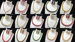 Latest American Diamond Necklace Set || Jewellery || Fashion Fiesta
