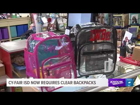 Cy-Fair ISD now requires clear backpacks