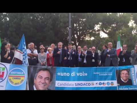 Intervento Sen. Maurizio Gasparri al comizio di Michele Santoro