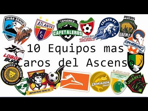 Los 10 Equipos mas caros del ascenso.