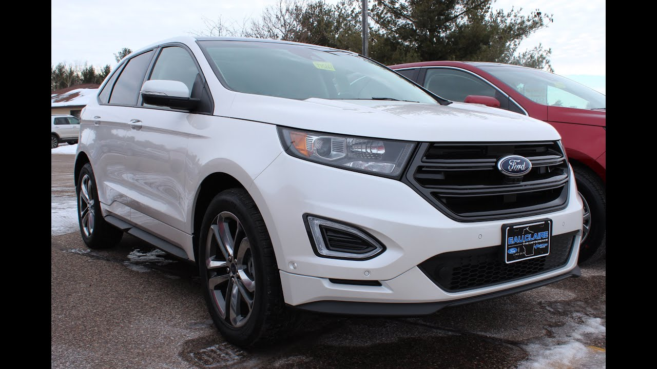 White Platinum  Ford Edge Sport At Eau Claire Ford Lincoln Quick Lane
