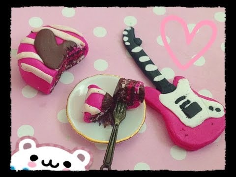 (✧◡✧) Pink rockstar Guitar Charm Tutorial