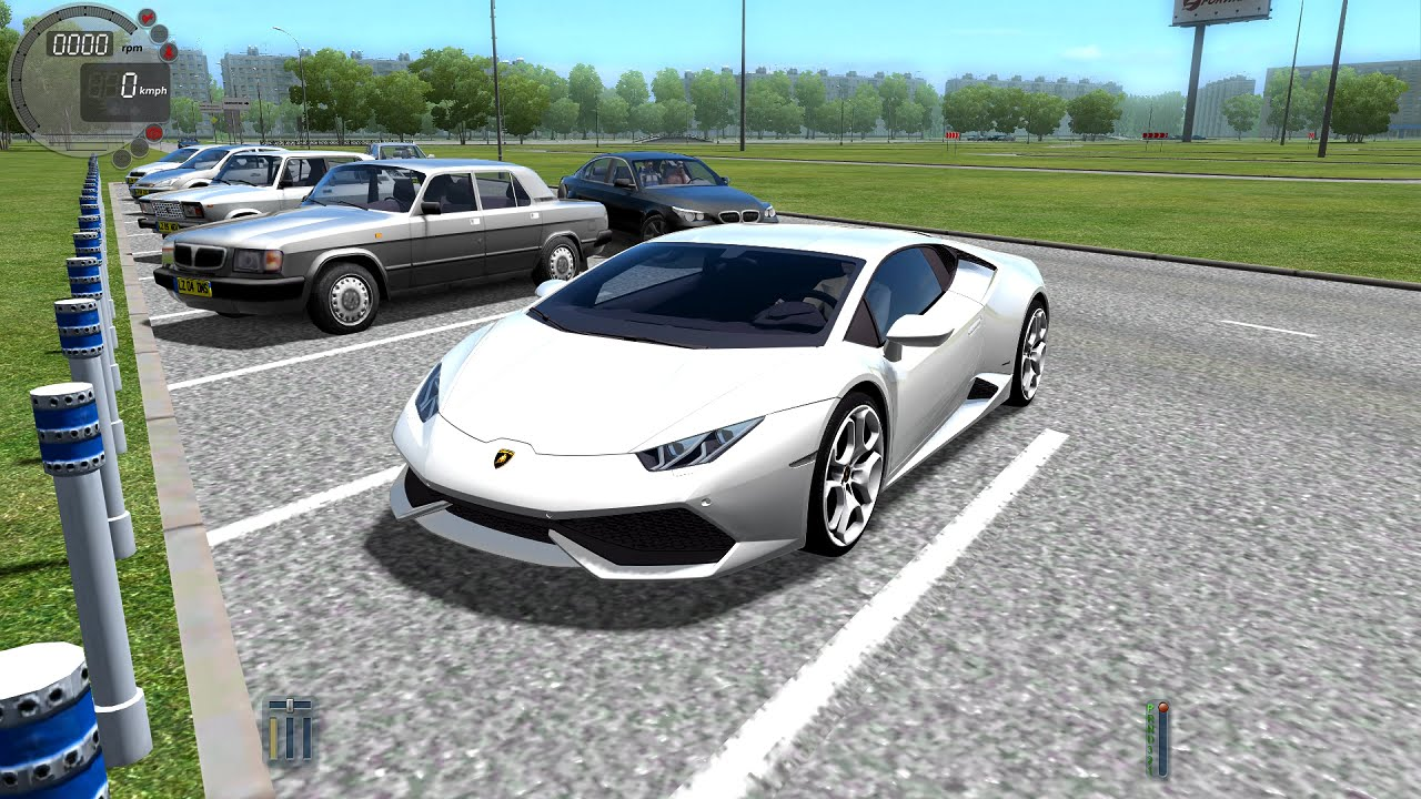 city car driving 1 4 1 lamborghini huracan gameplay with logitech g27 youtube. Black Bedroom Furniture Sets. Home Design Ideas