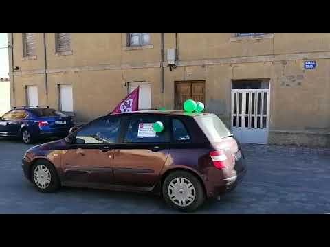 Caravana de coches contra la planta de lodos en Reliegos