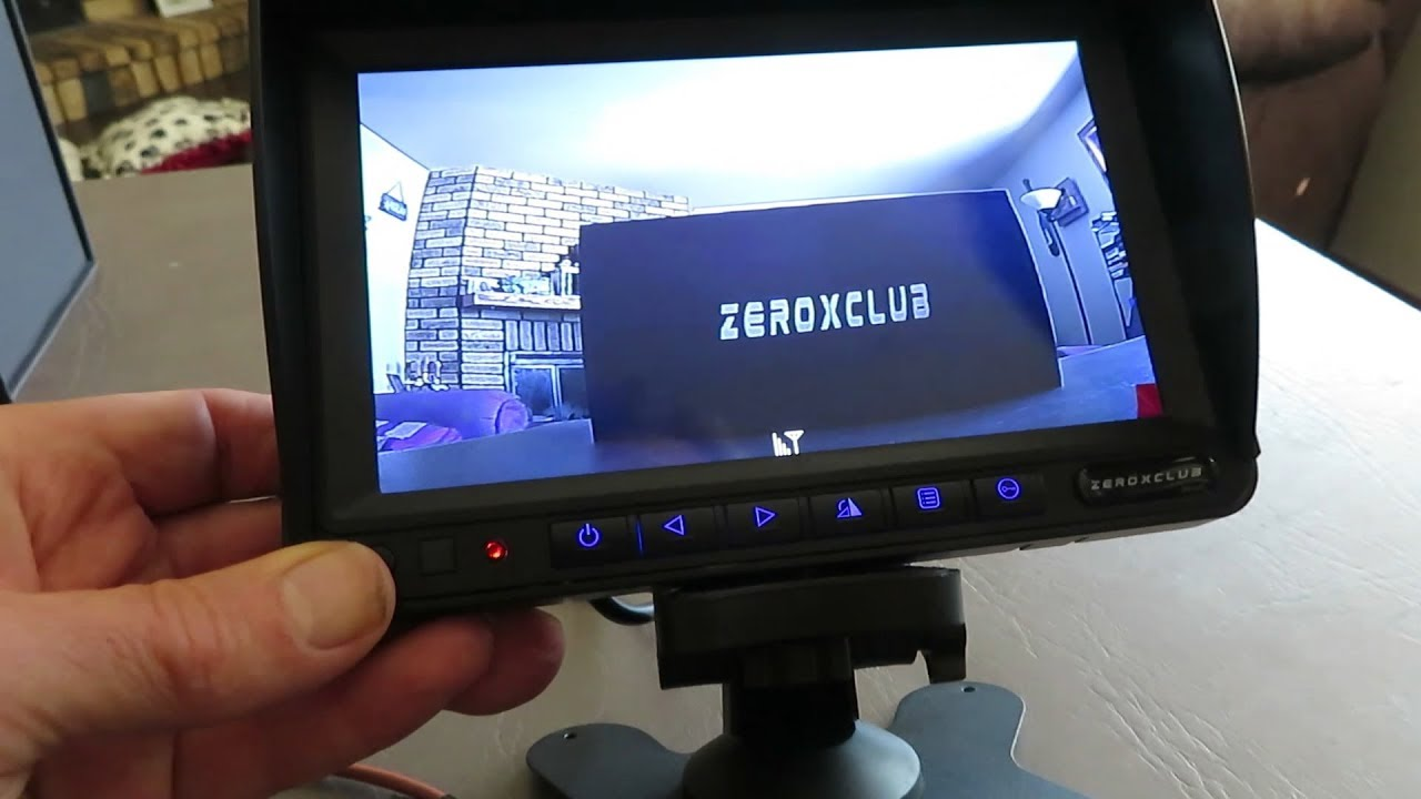 ZEROXCLUB Wired Backup Camera for Truck RV Trailer FHD 1080p 7-inch Monitor with 2 Camera for Watching Blind Spot of Back and Side,for Long Vehicle Bus Lorry 5th Wheel BC02