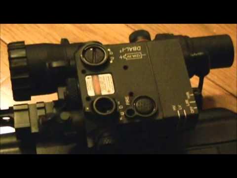 Infrared laser demo, PVS14 third generation and DBAL-I2, retreat security, nightfighting, prepper