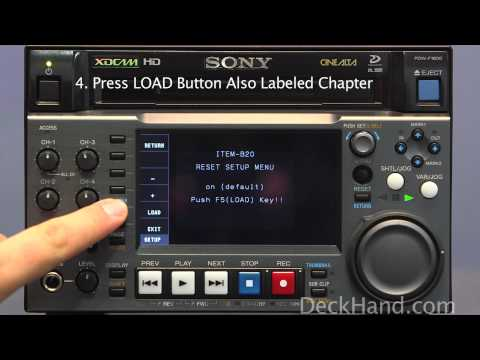 How to perform a Factory Reset on a Sony PDW-F1600