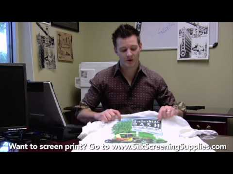 How to Screen Print (ARTWORK) Detailed instruction - Screen Printing 101 DVD pt 2
