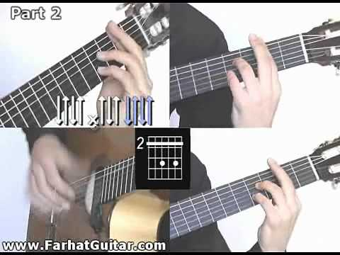 Volare Gipsy Kings Guitarra Part 8/8 Guitar Lesson  Full Song www.Farhatguitar.com