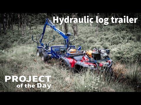 My new hydraulic log trailer
