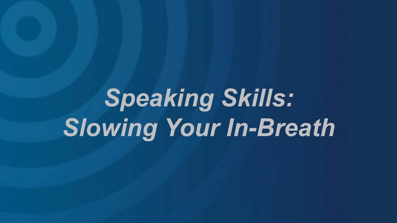 Breathe while talking how to How to