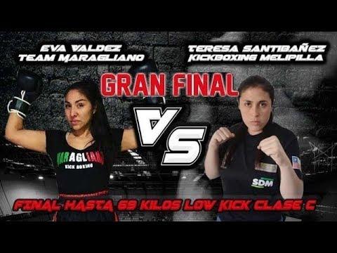 Eva Valdez VS Teresa Santibañez (Melipilla) - Final campeonato Kickboxing ISKA Chile 2018