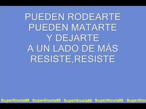 Resiste - letra mp3 letöltés