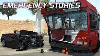 "Emergency Stories [11] (Short Stories) - BeamNG Drive - ""Bus Collision"""