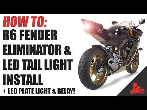 Smoke MZS Tail Light LED Integrated Turn Signal Blinker for Yamaha YZF R6 YZF-R6 RJ15 2008-2016