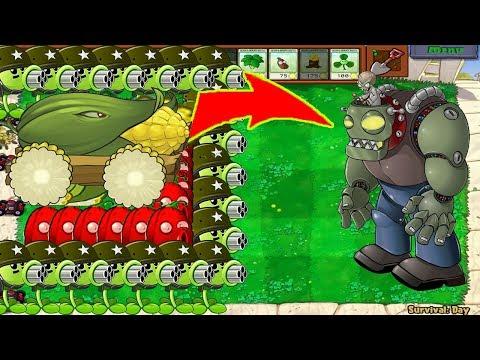 99-gatling-pea-cob-cannon-vs-999-gargantuar---plants-vs-zombie