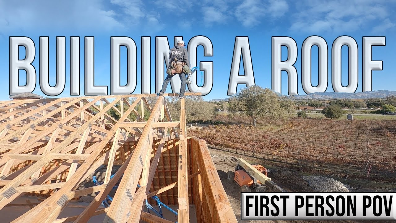 Building a Roof - Wood Framing (First Person POV)