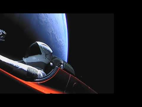 SpaceX starman UFO captured on live feed