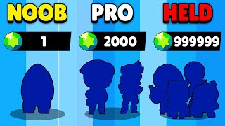 NOOB vs PRO vs HACKER in Brawl Stars!