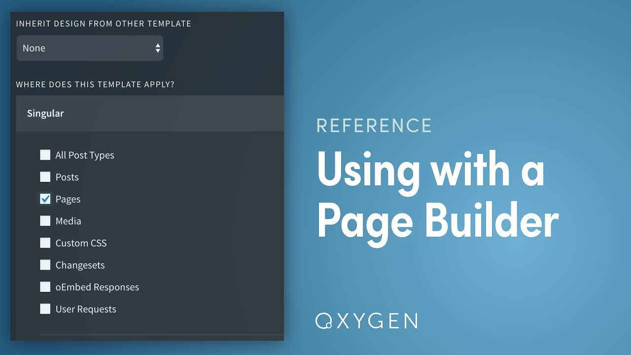 Using Oxygen with Page Builders - Oxygen