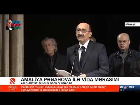 Xalq artisti Amaliya Pənahova ilə vida mərasimi keçirilir
