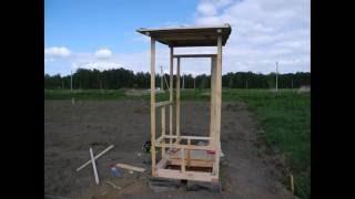 как сделать каркас туалета из бруса