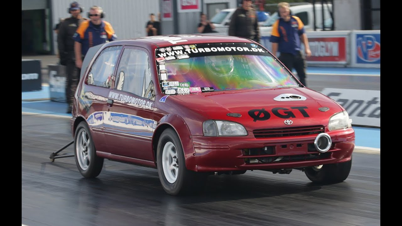 700-HP Toyota Starlet Runs a Nine-Second Quarter-Mile at 150 MPH