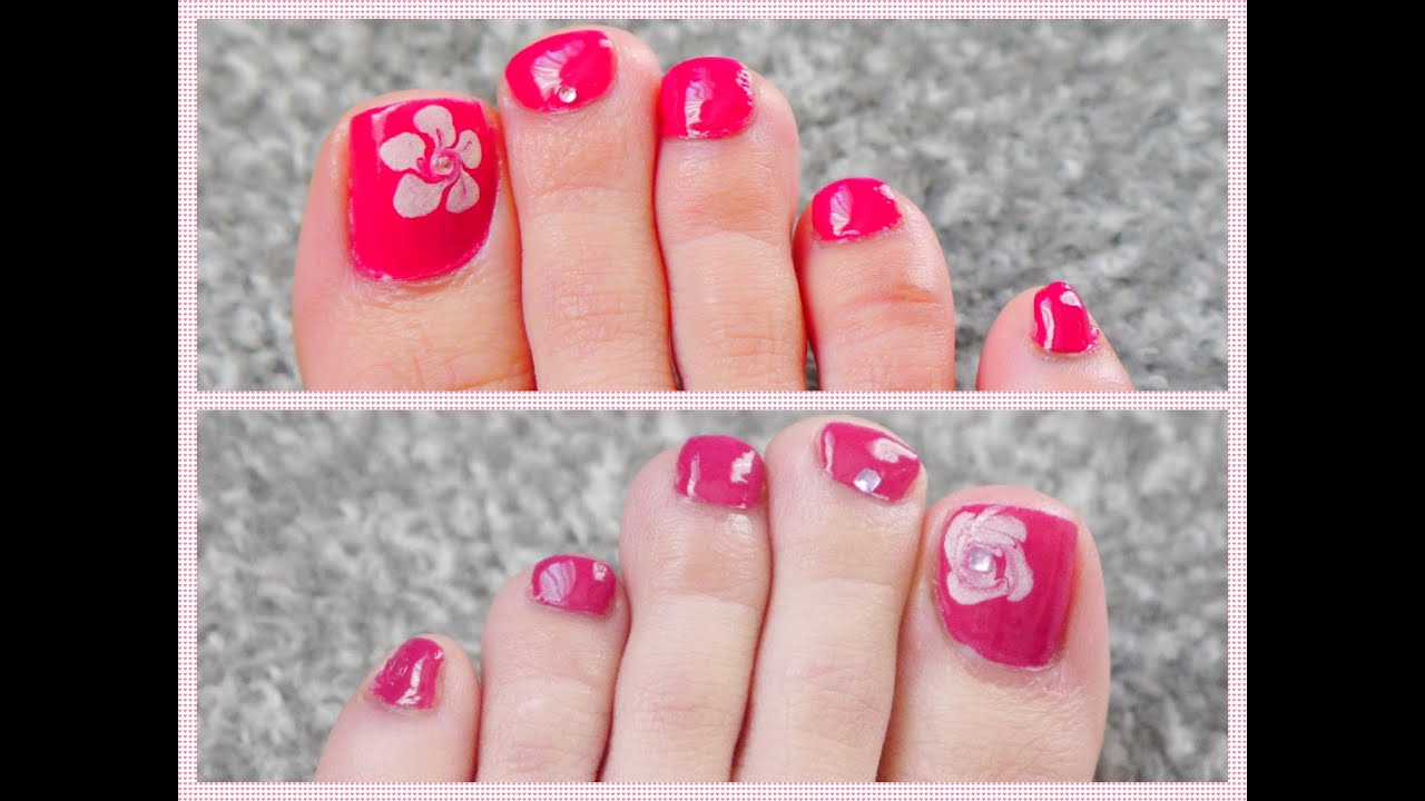 2 Easy Toe Nailart And Pedicure For Beginners Youtube
