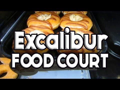 Excalibur Las Vegas Food Court Full Tour