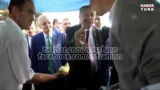 Erdoğan, Anadolu Ajansı'nı kavunla besledi