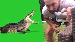 Green screen Chroma key tutorial and video tricks editing #1