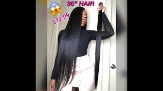"***Affordable Hair*** Slay in 36"" Hair for Less!👏🏾 $12.99😱"