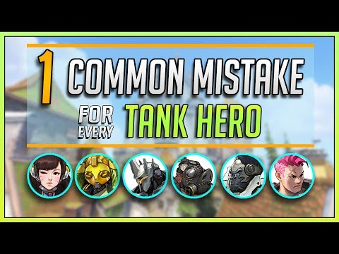 1 COMMON MISTAKE for every TANK HERO in Overwatch (Ft. Emongg & Cloneman16)
