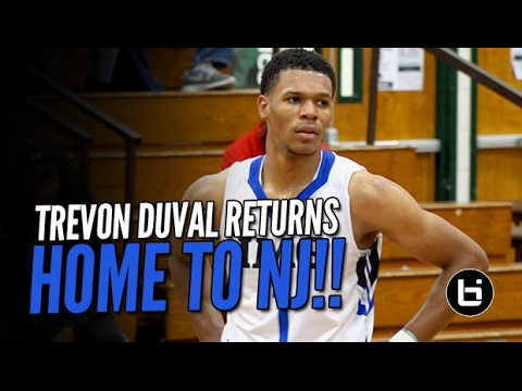 Trevon Duval Makes a Business Trip Home for Buckets in NJ!