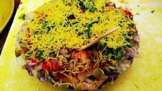 Sev Puri   Mumbai Street Food   Batata puri