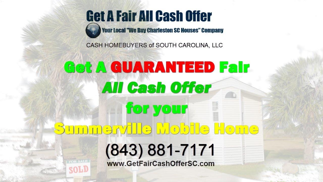 Sell Summerville Mobile Home Cash