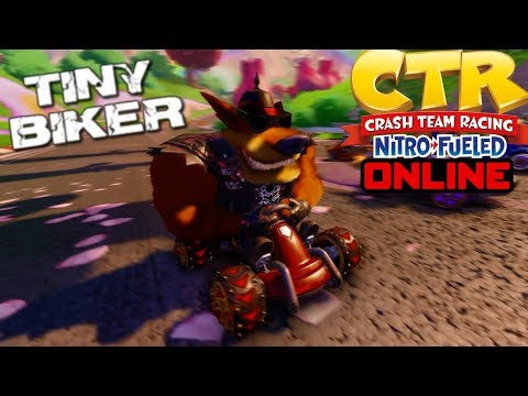 [crash-team-racing-nitro-fueled]-online-races-#12-|-intense-races---tiny-biker-gameplay