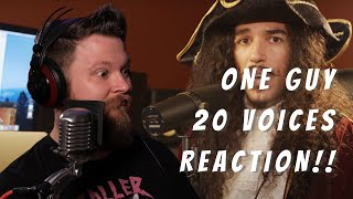 Reaction to One Guy, 20 Voices  Metal Guy Reacts