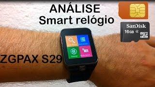 ZGPAX S29 Análise do Smartwatch Smart Relógio (Review BRASIL)