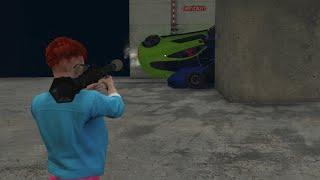 ER STAAN EEN TRUCK VOOR DE RAMP! (GTA V Online Funny Jobs)