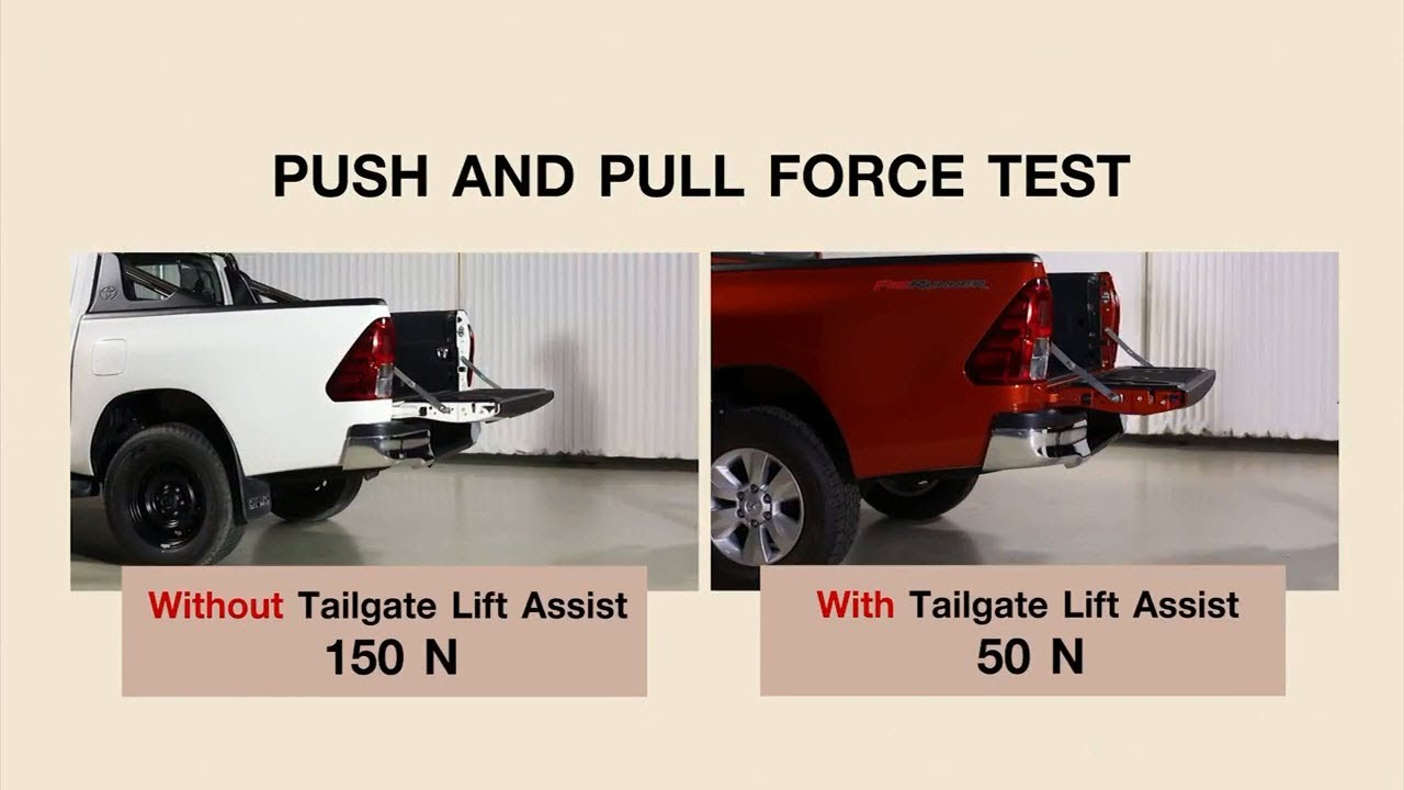 hight resolution of hilux revo tailgate easy assistance youtubehilux revo tailgate easy assistance toyota motor thailand