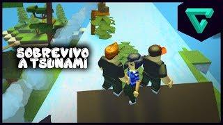 SOBREVIVO A UN TSUNAMI - Disaster Island en Roblox | TGN