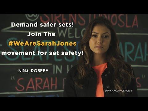 Join The We Are Sarah Jones Movement For Set Safety