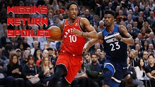 Wiggins Return to Toronto SPOILED - Raptors vs Wolves