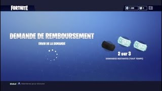 Refund and purchase of the CORBEAU skin on Fortnite!