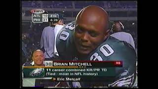 Brian Mitchell 331 Yards vs Falcons