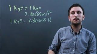 Kilograms of Mass vs. Kilograms of Force : Solving Math Problems