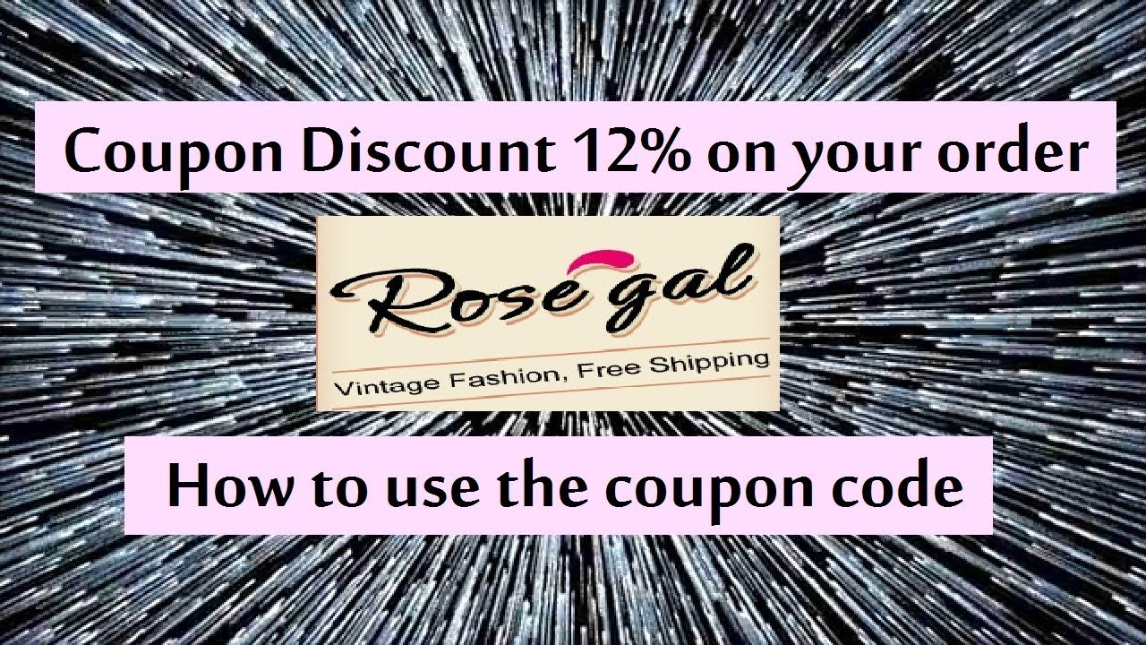 Rosegal Coupon code 12% off on your order - YouTube