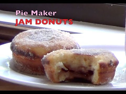 Jam Donuts Made In The Pie Maker, Cheekyricho Cooking Video Recipe Ep. 1,243