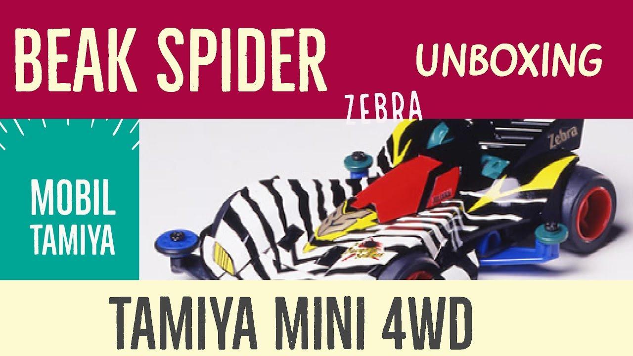 Tamiya Mini 4wd Beak Spider Zebra Daftar Harga Terkini Dan 19447 Stinger G Ar Chassis Unboxing